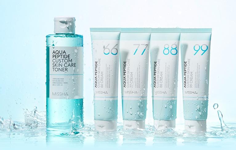 Missha Aqua Peptide Custom Skin Care Toner 200ml Korean Cosmetics Online Shop Korean Cosmetics Wholesale Testerkorea