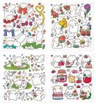 [R] Mayo Sticker (Ribbon+Flower+Goose+Cherry) 4ea