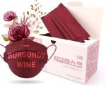 [R] Premium 3 Layer MB Filter Dental Mask #Burgundy Wine 50ea