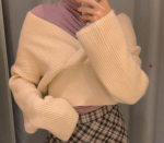 [R] Layered V-Neck Wrap Knit 1ea