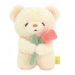 [R] Fluffy Arigaton Tatton Doll with Flower 1ea