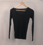 [R] meltingcoco V-neck ribbed knit