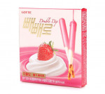 [F] LOTTE Double Dip Strawberry Pepero 50g