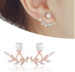 4XTYLE Bay leaf twoway earring