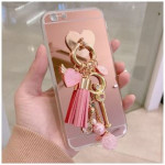 [W] Berry_case Paradise Tassel Case #iPhone_Pink Hard Case_Pink_Rose Gold