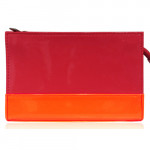 [L] LANCOME Red & Orange Pouch