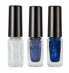 HOPEGIRL Nail Travel Bling Bling Set [4g*3ea]  (Option 07.Blue Soda)