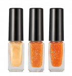 HOPEGIRL Nail Travel Bling Bling Set [4g*3ea]  (Option 06.Orange Marmalade)