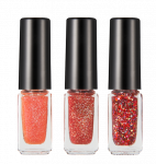 HOPEGIRL Nail Travel Bling Bling Set [4g*3ea]  (Option 05.Red Cocktail)