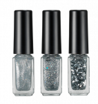 HOPEGIRL Nail Travel Bling Bling Set [4g*3ea]  (Option 03.Silver Shine)