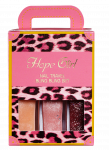 HOPEGIRL Nail Travel Bling Bling Set [4g*3ea]  (Option 01.Pink Syrup)
