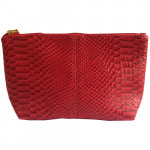 [L] ESTEE LAUDER	Leather Red Pouch