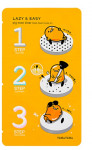 HOLIKAHOLIKA LAZY&EASY Pig Nose Clear Black Head 3-step Kit (Gudetama Edition) 1ea