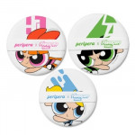 PERIPERA Powerpuff Girl Cushion Puff 3PCS Set (Peripera X Powerpuff Girl Collection)