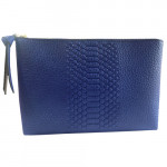 [L] ESTEE LAUDER	Leather Blue Pouch