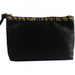 [L] ESTEE LAUDER	Leather Black Pouch