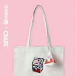 [W] SPAO Milk Eco Bag (Seoul Milk)_WHITE SPAK822A82