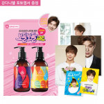 [R] THINK NATURE Natural Care Shampoo & Conditioner Set (Wanna_one Kang Daniel Photo Card Gift)