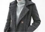 [W] SECRET LABEL Modern Button Round Coat