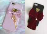 [W] JENNY_CASE Shara Ribbon / Velvet Ribbon Case - #iPHONE SE