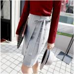 [W] DALLYSHOP Shining Check Skirt