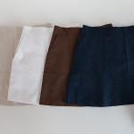 [W] DARLLYSHOP Square Linen Skirt