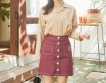 [W] MAKMAKS Joy Stitch Skirt