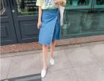 [W] MAKMAKS Edge Blue Skirt