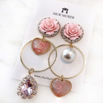 [R] MUR'MURER Pink Rose Earring 1ea