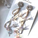 [R] MUR'MURER PVC Hologram Zig Zag Earring 1ea