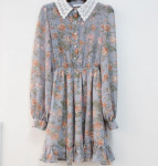 [R] Flower Lace Dress #SKYBLUE