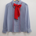 [R] Red Ribbon Blouse