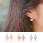 [R] WING BLING Rose J Earrings 1ea