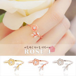 [R] WING BLING Rose Ring 1ea