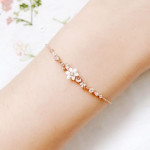 [W] 1300k Romantic Clematis Flower Silver Bracelet (OTB118901MPI) 1ea