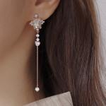 [W] Soo&Soo Shapew Crystal Earrings 1set