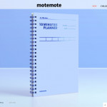 [W] MOTEMOTE 10 min planner blue