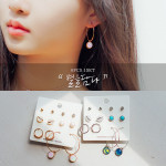 [R] WING BLING Starlight Earrings 1set