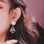 [R] WING BLING Blanc Earring 1ea
