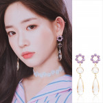 [R] WING BLING Water Drop Earrings 1ea