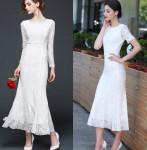 [Wedding] MelloLand Span Mermaid Long Dress (Pregnant Dress)