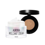 [W] INGA Aurora Brilliant Cream&Secret Cover Cushion Set 50ml+15g
