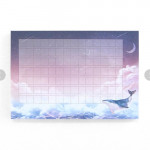[W] 10x10 Pleple Memo Pad (Option : A wind festival ) 1ea