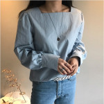 [W] Puff Square Neck Blouse 1ea