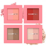 [W] MEMEBOX Coringco Pink Square Dual Cheek & Shedding & Highlighter 4 kinds 1ea
