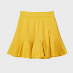[W] Linen Flare Mini Skirt MIWWH8514R (Color: yellow Size: 24) 1ea