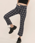 [W] ODD ONE OUT Unbalance Check Pants_NAVY 1ea
