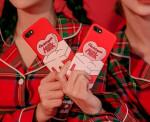 [W] CHUU strawberry milk. Merrily Strawberry Phone Case 1ea