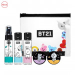 [W] BT21 Travel Size Cosmetic Container Kit 1set