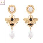 [W] NOONOOFINGERS Honeybee Pearl Drop Earrings 1set
